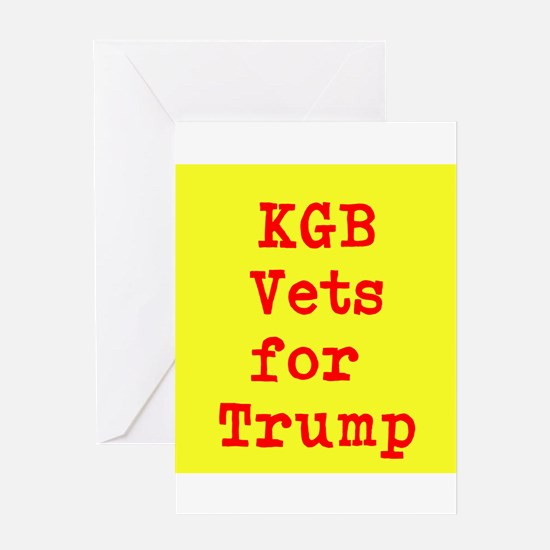 KGB Vets for Trump Greeting Cards