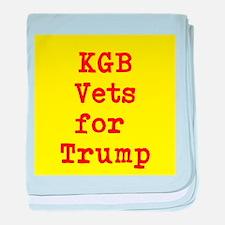 KGB Vets for Trump baby blanket
