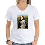 Mona's Light Golden (O) Women's V-Neck T-Shirt