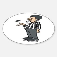 Hockey Referee Oval Decal