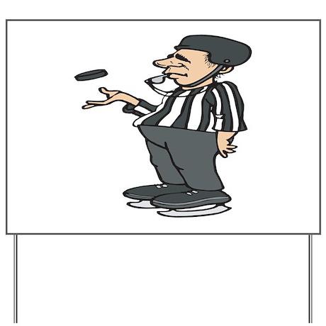 Hockey Referee Yard Sign