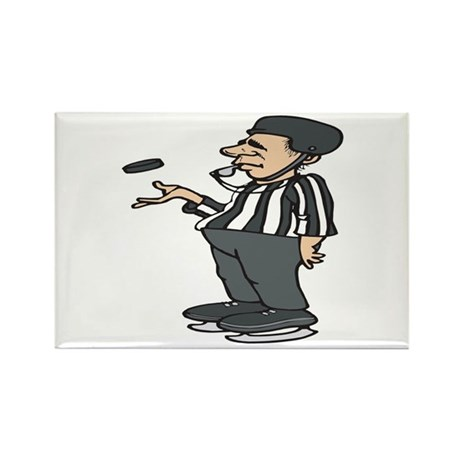 Hockey Referee Rectangle Magnet (10 pack)