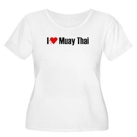 I love Muay Thai Women's Plus Size Scoop Neck T-Sh