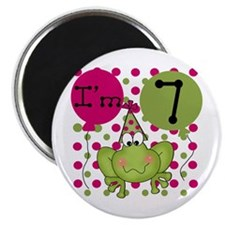 Frog 7th Birthday (pink) Magnet