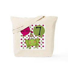 Frog 7th Birthday (pink) Tote Bag