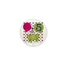 Frog 5th Birthday (pink) Mini Button