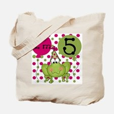 Frog 5th Birthday (pink) Tote Bag