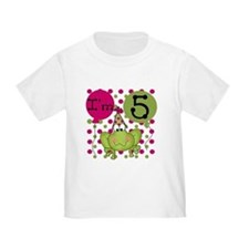 Frog 5th Birthday (pink) T