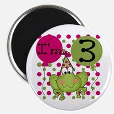 Frog 3rd Birthday (pink) Magnet