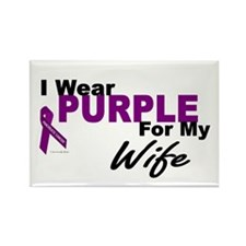 I Wear Purple For My Wife 3 (PC) Rectangle Magnet