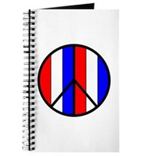 Red White Blue Peace Sign Journal