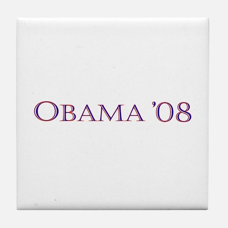 Obama08 Tile Coaster