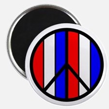 Red White Blue Peace Sign Magnet