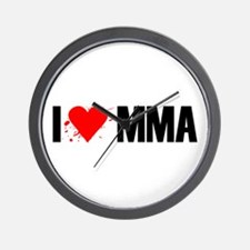 I love MMA Wall Clock