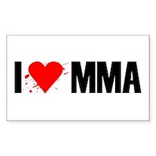 I love MMA Rectangle Decal
