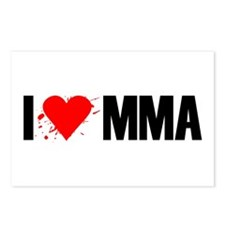 I love MMA Postcards (Package of 8)
