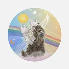 Norwegian Forest Cat Angel Ornament (Round)