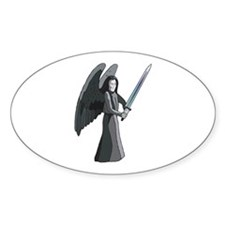 Angel of Death Oval Decal