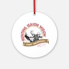Hunting Season Widow Ornament (Round)