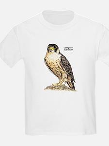 Peregrine Falcon Bird (Front) Kids T-Shirt