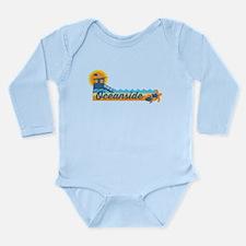 Oceanside - California Long Sleeve Infant Bodysuit