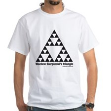 Sierpinski's triangle white T-Shirt