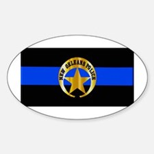 NOPD Thin Blue Line Decal