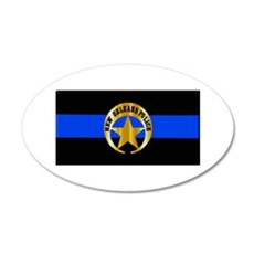 NOPD Thin Blue Line Wall Decal