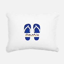 Destin Florida Flip Flop Rectangular Canvas Pillow