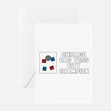 Chicago Bag Toss City Champio Greeting Cards (Pk o