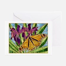 Butterfly With Iris Greeting Cards (Pk of 10)
