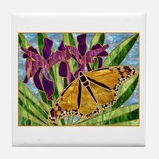 Butterfly With Iris Tile Coaster