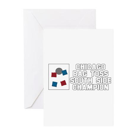 Chicago Bag Toss South Side C Greeting Cards (Pk o