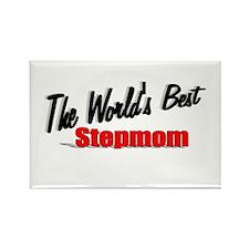 """The World's Best Stepmom"" Rectangle Magnet"