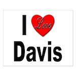 I Love Davis Small Poster