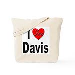 I Love Davis Tote Bag
