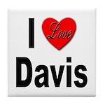 I Love Davis Tile Coaster