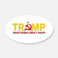 Trump Make Russia Great Again Oval Car Magnet