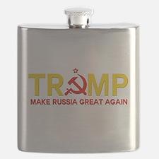 Trump Make Russia Great Again Flask