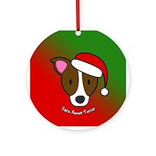 Cartoon Jack Russell Terrier Christmas Ornament