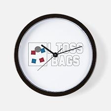 I Toss Bags Wall Clock