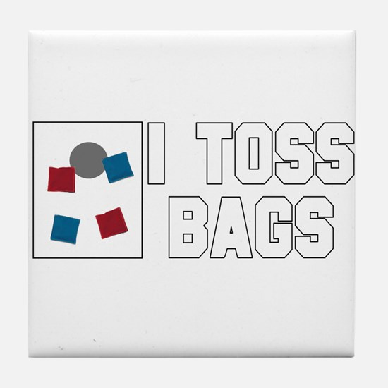 I Toss Bags Tile Coaster