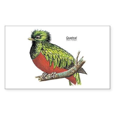 Quetzal Rain Forest Bird Rectangle Sticker
