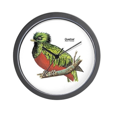Quetzal Rain Forest Bird Wall Clock