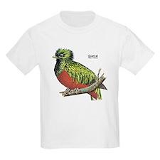 Quetzal Rain Forest Bird (Front) Kids T-Shirt
