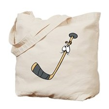 Scared Hockey Stick Tote Bag