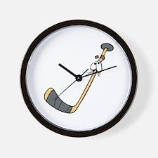 Scared Hockey Stick Wall Clock