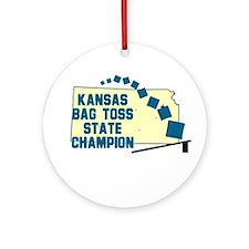 Kansas Bag Toss State Champio Ornament (Round)