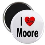 I Love Moore Magnet