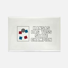 Kansas Bag Toss State Champio Rectangle Magnet